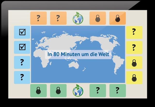 In 80 Minuten um die Welt Logo